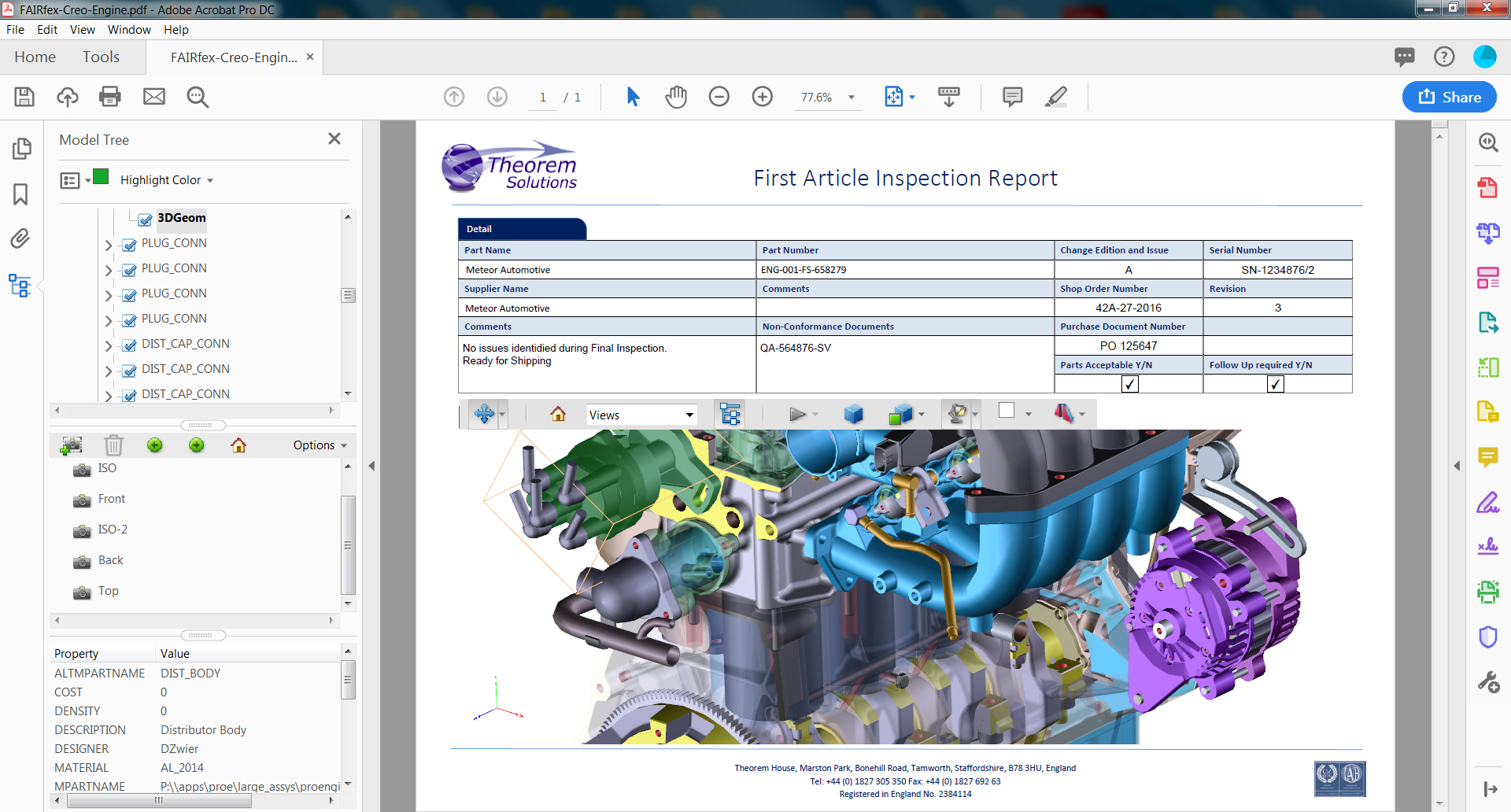 3DPDF - First Article Inspection Report