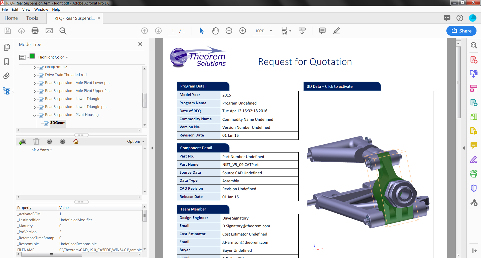 3DPDF Request for Quotation - RFQ