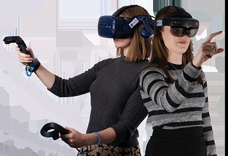 Microsoft HoloLens 2 and HTC Vive Pro